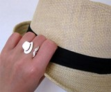 Mr. Mustache with Fedora Ring