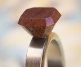 Wood & Titanium Engagement Ring