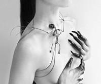 Sterling Silver Bat Skeleton Necklace