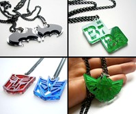 Laser Cut Pop Culture Necklaces