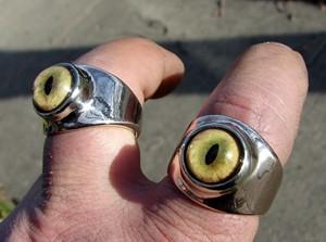 Bobcat Eyeball Ring