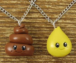 Tiny Best Friends Necklace - Pee and Poo
