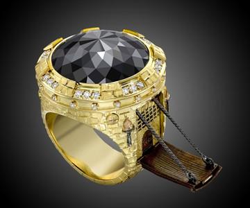 Black Diamond Castle Ring