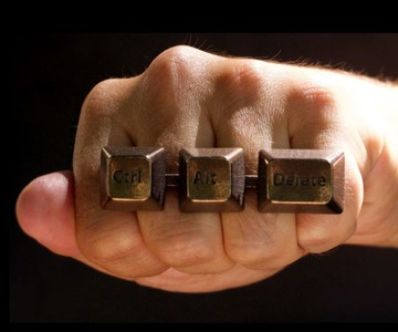 Control-Alt-Delete Knuckle Duster Ring