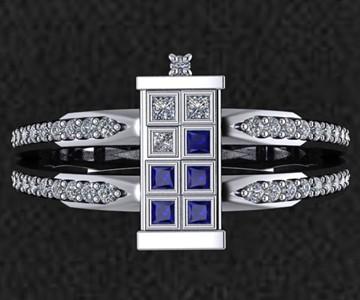 TARDIS Wedding Ring