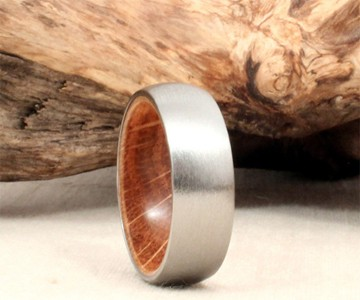 Titanium & Jack Daniels Barrel Ring