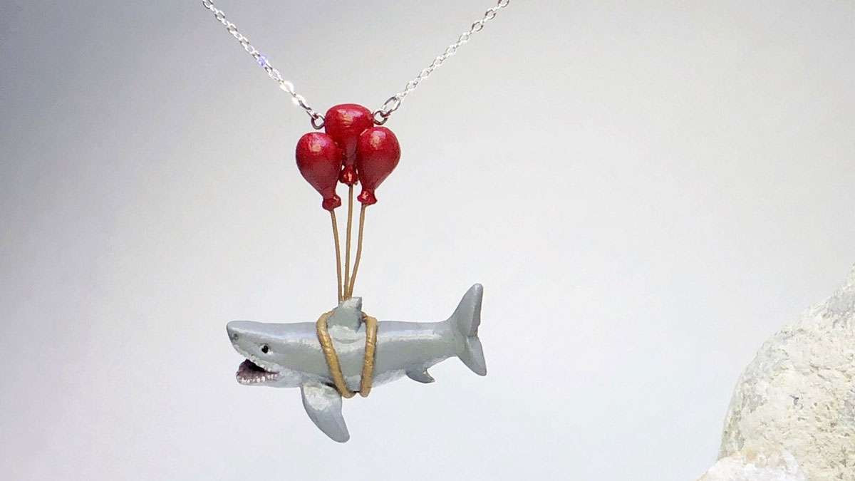 Shark Learns to Fly Necklace