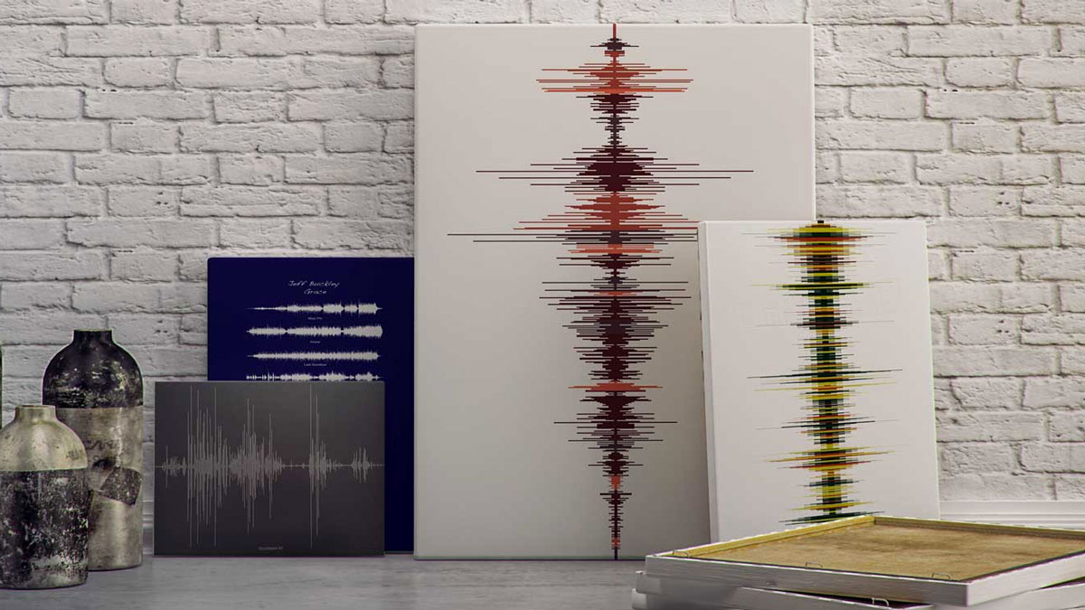 Soundwave Voice Message Art & Jewelry