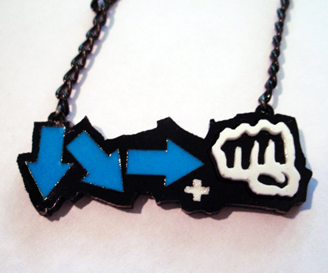 Street Fighter Glowing Hadouken Necklace