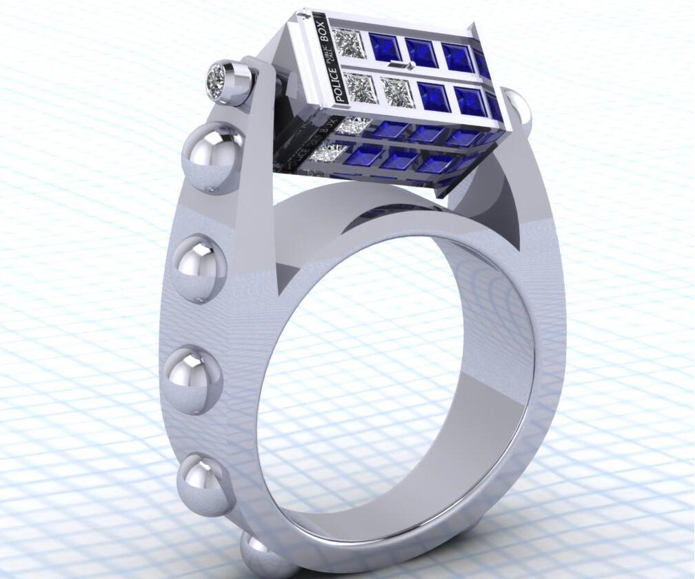 Tardis Wedding Ring Tardis Ring
