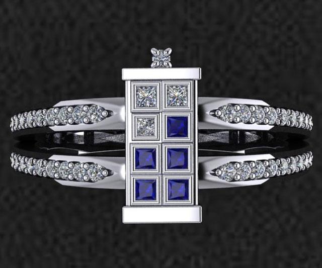 TARDIS Wedding Ring DudeIWantThatcom