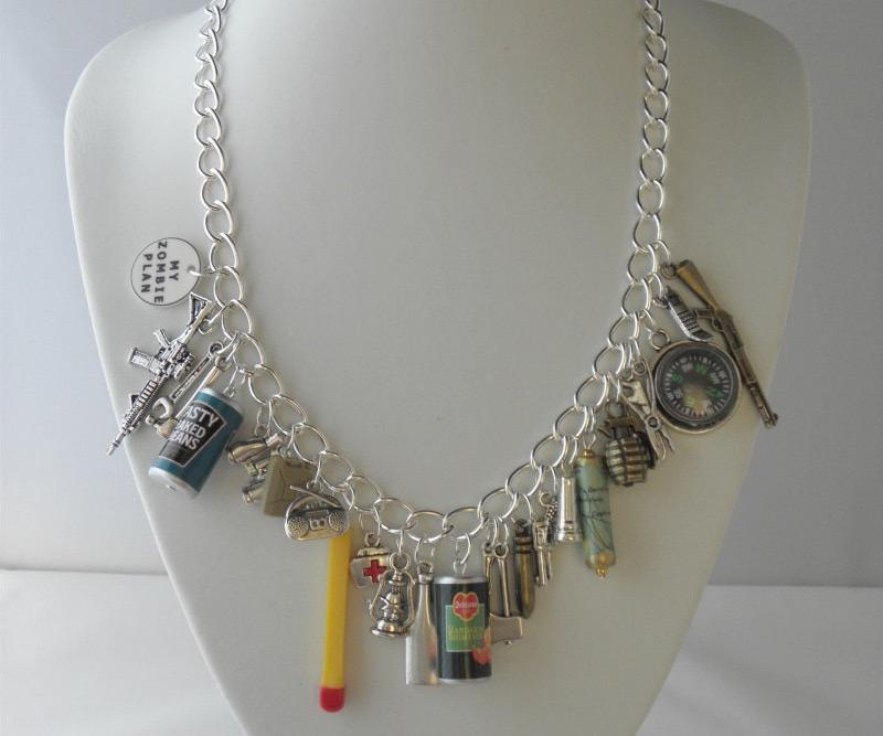zombie apocalypse charm jewelry dudeiwantthatcom