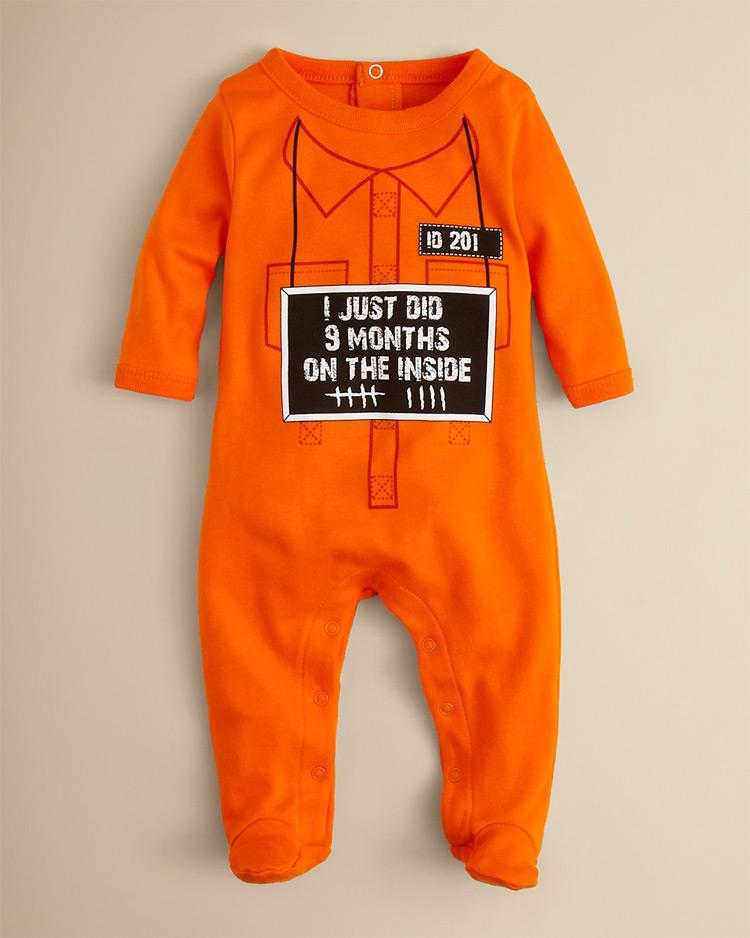 Baby Orange Jumpsuit Fashion Ql
