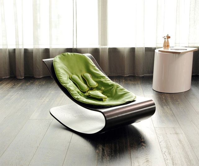Bloom Coco Stylewood Baby Lounger | DudeIWantThat.com
