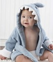 Baby Blue Terry Shark Robe