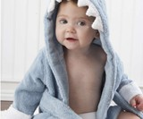 Baby Blue Terry Shark Robe
