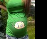 Peek-a-Boo Baby Maternity Shirts