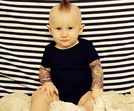 Baby Tattoo Sleeve Onesie