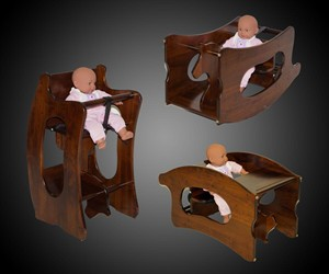 3-in-1 Amish High Chair