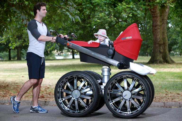 Wheel Stroller With Car Seat