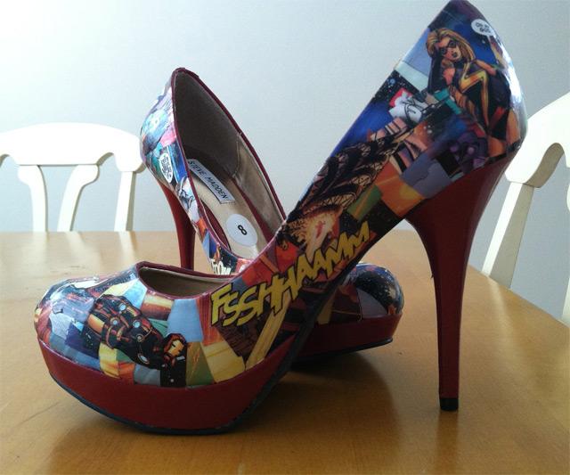 comic book high heels dudeiwantthat