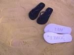 Sand Imprint Flip Flops