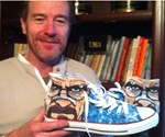 Bryan Cranston Holding Breaking Bad Chuck Taylors