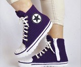Crochet Converse Slippers
