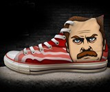 Parks & Recreation Ron Swanson Chuck Taylors