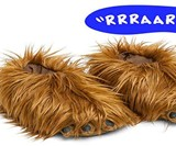 Talking Chewbacca Slippers
