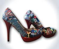 Comic Book High Heels