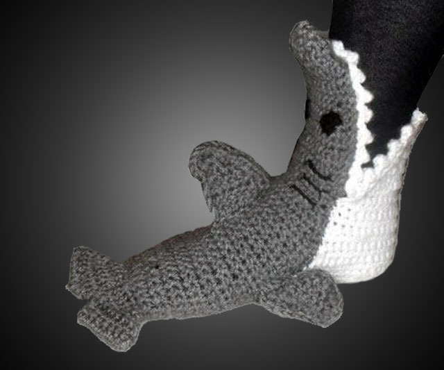 Shark Slippers Dudeiwantthat