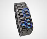 Iron Samurai Blue LED Watch