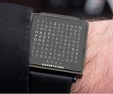 Man Wearing QLOCKTWO Watch