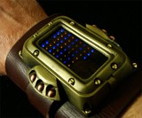 Man Wearing Steampunk LED Watch