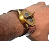 Steampunk Sundial & Compass Watch