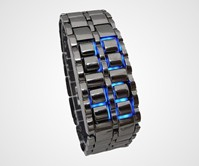 Iron Samurai Blue LED Watch