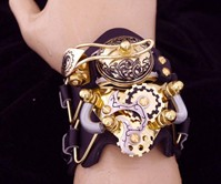 Steampunk Flip-Top Watch Cuffs