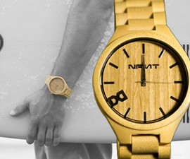 The Big Face Woody Bamboo Watch