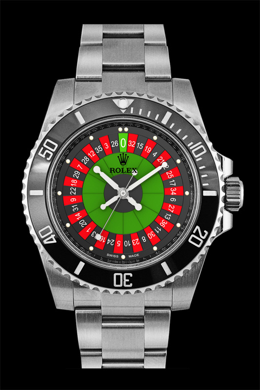 Roulette date watch